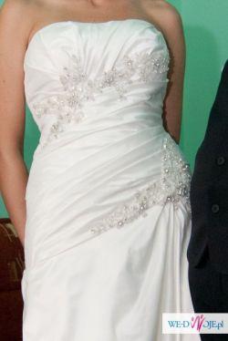 Prześliczna suknia ślubna TRES CHIC AM813 z Hiszpanii