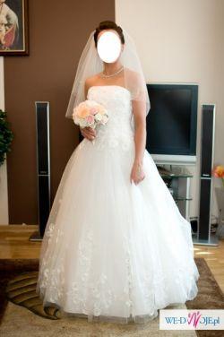 Prześliczna Suknia Ślubna z Salonu PARYŻANKA w Kielcach