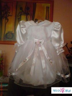 prześliczne ubranko do chrztu dla dziewczynki