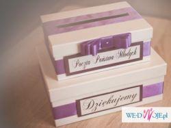 Pudełko na koperty, kartki ślubne