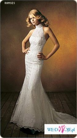 RAMZES piekna suknia koronkowa