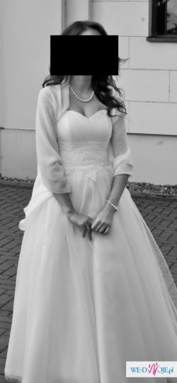 Romantyczna suknia ślubna