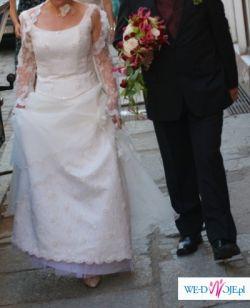 Romantyczna suknia slubna ECRU