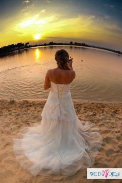 Romantyczna suknia ślubna Sincerity 3511 + woalka