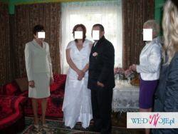 Romantyczna suknia ślubna w roz. 48