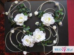 RÓŻE - 4szt - dekoracja ślubna na samochód