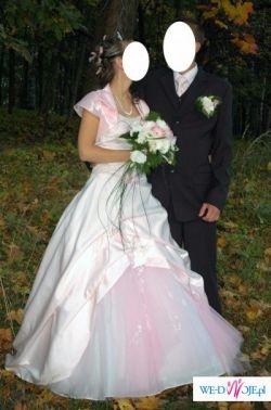 Różowa Suknia Ślubna!!