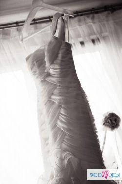 San Patrick Edimburgo Madonna suknia ślubna rybka hiszpańska syrena