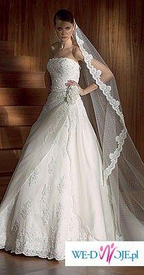 San Patrick, Pronovias Balta - przepiękna orginalna suknia ślubna