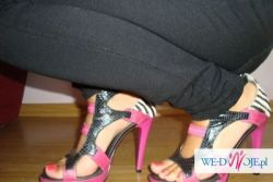 Sandałki skórzane szpilka
