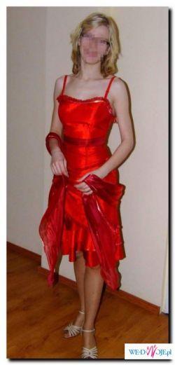 Seksowna czerwona sukienka, rozmiar 36