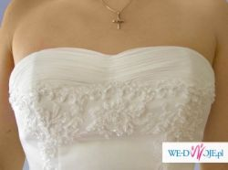 seksowna  koronkowa biała i bardzo elegancka suknia slubna 36/38