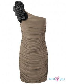Sexi sukienka wieczorowa, asymetryczna r. S (36)