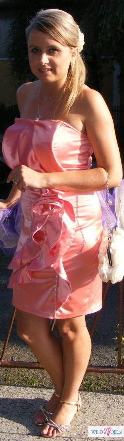Sexy,Piękna Sukienka w kolorze różowym