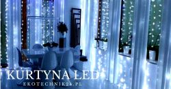 Siatki LED - dekoracja sali weselnej.