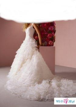 Sincerity 3243 - Piękna suknia ślubna - z trenem - snieżnobiała