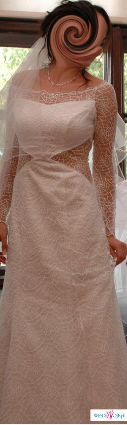 Skromna, a zarazem efektowna suknia ślubna!
