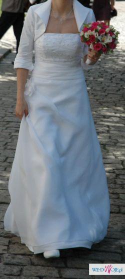 Skromna ale piękna suknia Biancaneve