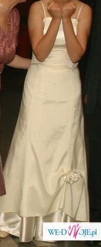 Skromna ale piękna suknia ślubna. Odebrana z pralni. Polecam!
