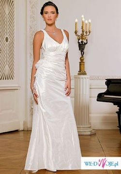 !!Skromna i piękna suknia Margarett 42/44 plus gratisy!!