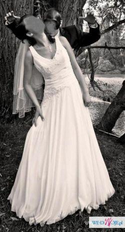 Skromna suknia ślubna MS Moda