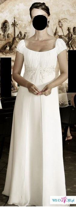 skromna, zwiewna suknia ślubna Agnes 1983