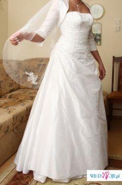 Ślicza, śnieżno biała suknia ślubna na sprzedaż