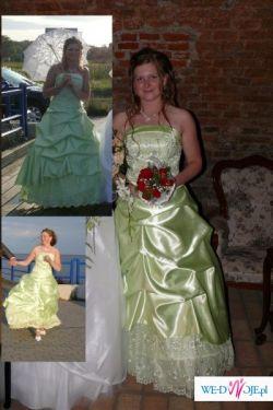 Śliczną balową sukienkę