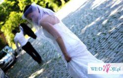Śliczna biała suknia + dodatki rozm. 36/38