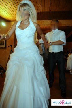 Śliczna biała suknia niedrogo!