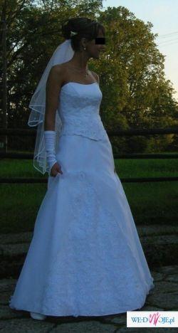 śliczna biała suknia - projekt własny