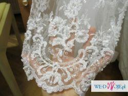 Sliczna biała suknia ślubna 36 wiązana na gorset