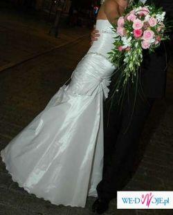 Śliczna biała suknia ślubna!!!