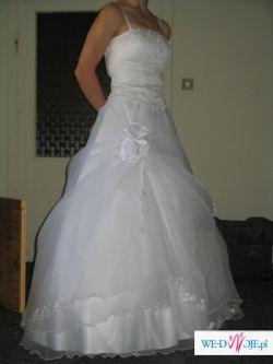 Sliczna biała suknia ślubna,dwuczęściowa