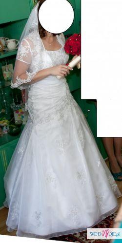śliczna biała suknia ślubna r.38/40