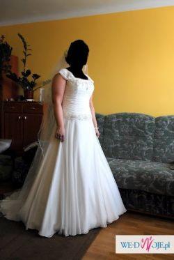 Śliczna biała suknia ślubna roz.40/42