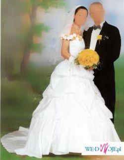 Śliczna biała suknia ślubna rozmiar 36/38, gorset + spódnica