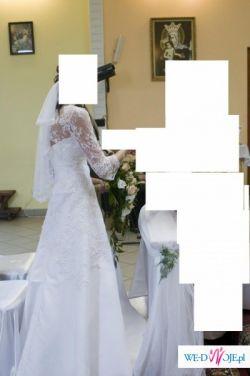 Śliczna biała suknia ślubna z dodatkami :-)