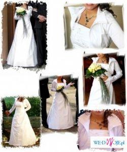 śliczna, biała z haftem, niepowtarzalna, na niską, tanio