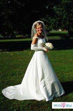 Śliczna, delikatna sukienka w kolorze ecru - rozmiar 38