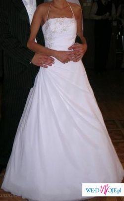 Sliczna delikatna suknia slubna