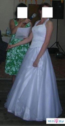 Śliczna dwuczęściowa suknia ślubna