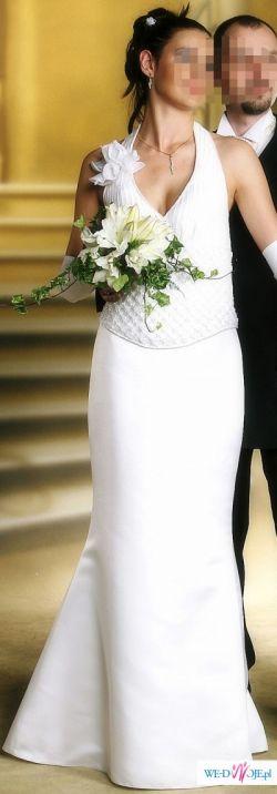 Śliczna, dwuczęściowa suknia ślubna !