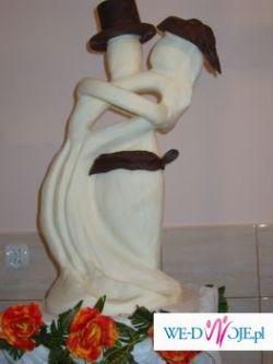 Śliczna FIGURKA Z CZEKOLADY (białej i ciemnej)-PARA MŁODA