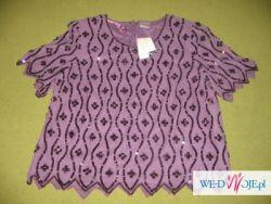 Śliczna fioletowa bluzeczka - firmy Classic-rozmiar 26 (angielski)