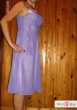śliczna fioletowa sukienka