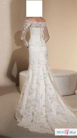 Śliczna hiszpańska suknia ślubna White One 424 z salonu Madonny!!!