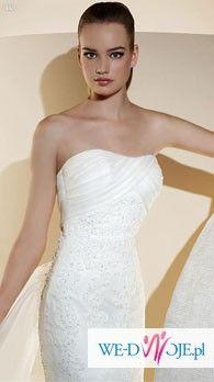 Śliczna hiszpańska Suknia WHITE ONE