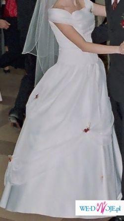 śliczna i niedroga suknia ślubna