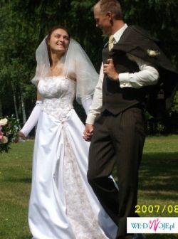 śliczna i oryginalna suknia ślubna:)
